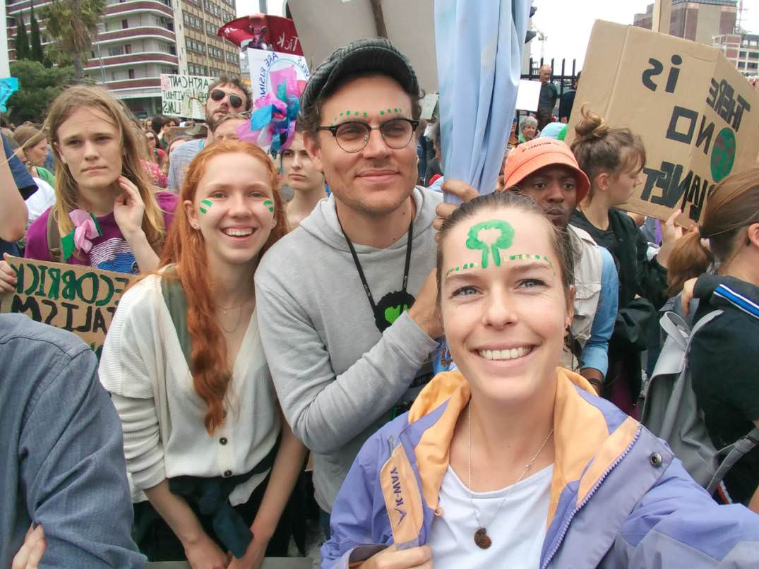 Meagen Courtney Swain Climate March Greenpop Cape Town South Africa