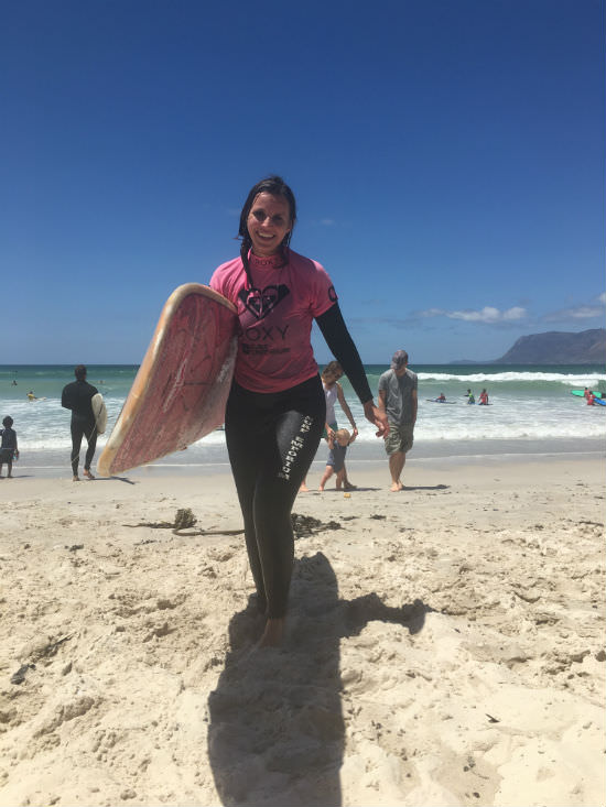Surfing at Cape Town