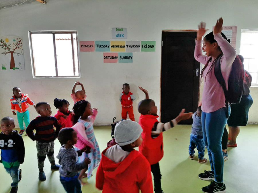 Whitney at Daycare Center Projekt Ubuntu Cape Town Masiphumelele